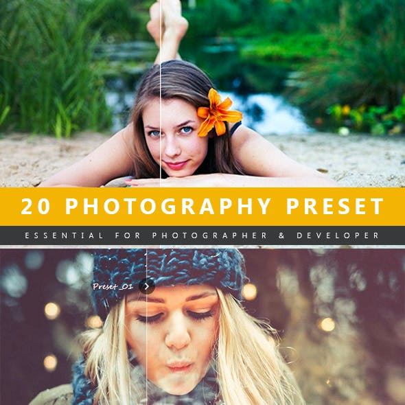 20 Photography Lightroom Preset