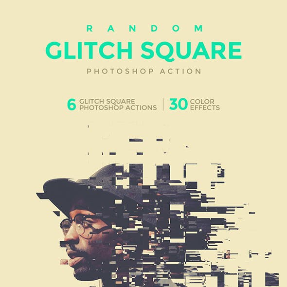 Random Glitch Square Photoshop Action