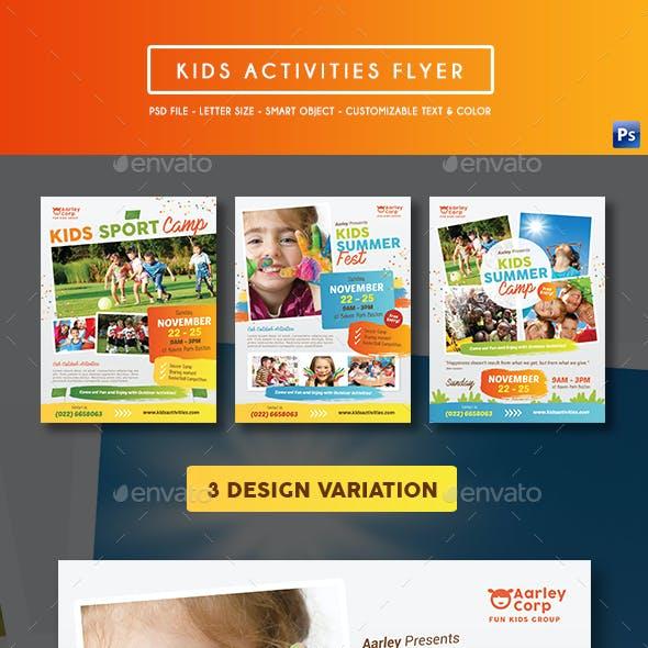 Kids Activities Flyer