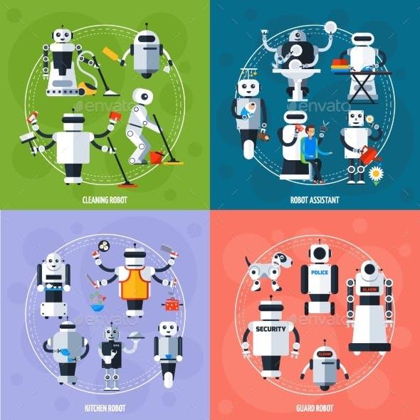 Smart Robots Concept