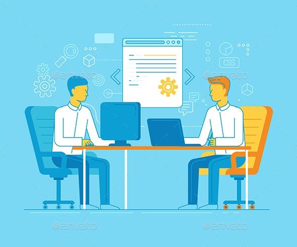 Coworking Concept - Technology Conceptual