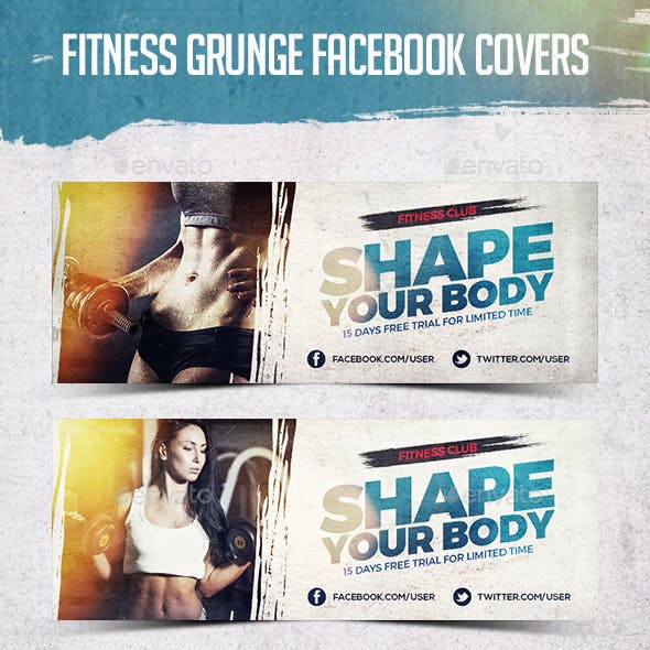Fitness Grunge Cover Facebook