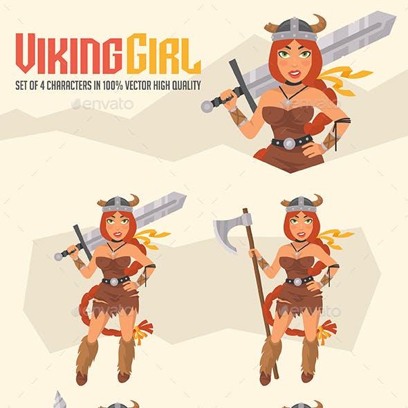 Viking Girl Mascot Pack