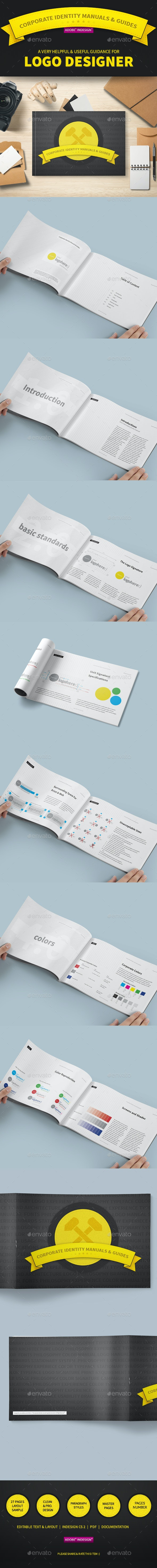 Corporate Identity Manuals and Guides Template - Corporate Brochures
