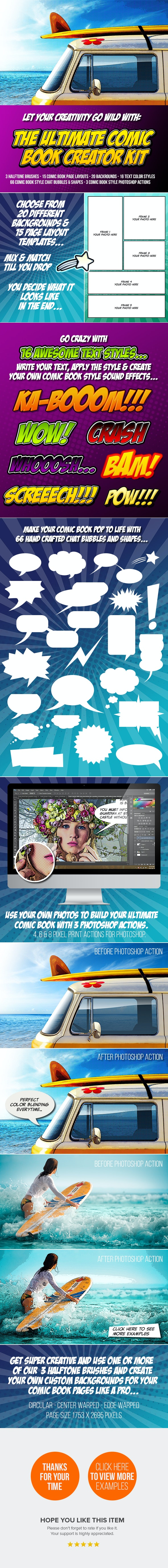 Comic Book Creator - Photo Effects Actions