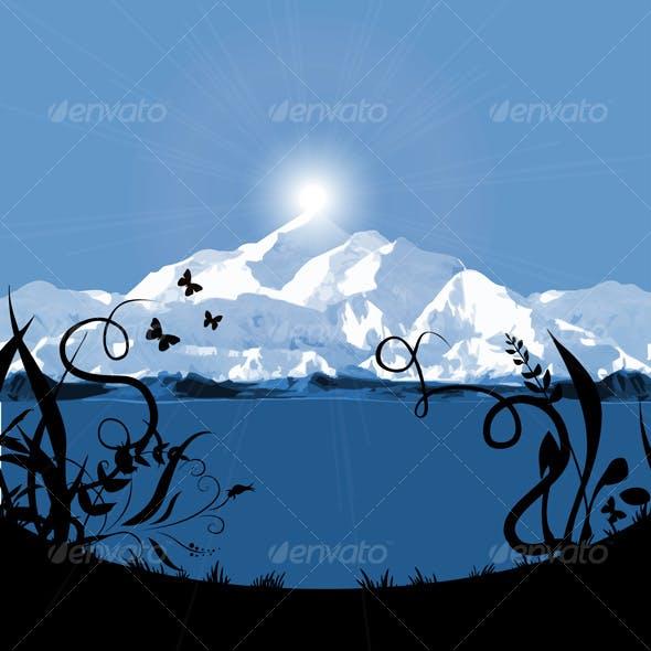 mountain sunset / sunrise card