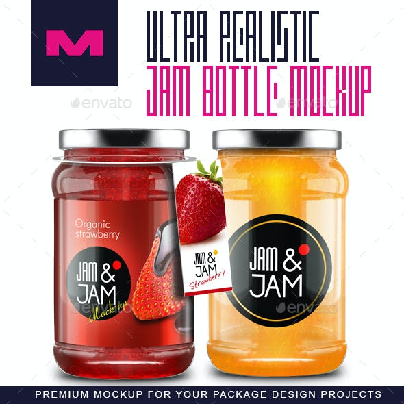 Realistic Jam Bottle Mock-ups