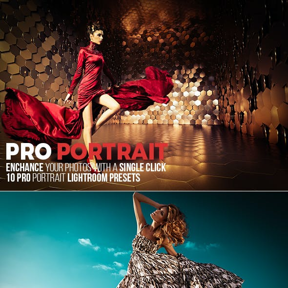 10 Pro Portrait Lightroom Presets