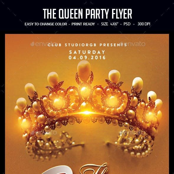 The Queen Party Flyer