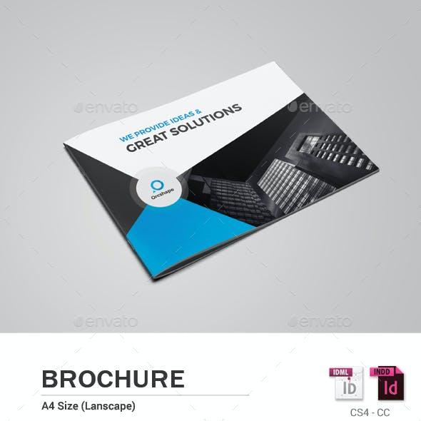 8 Pages Landscape Brochure