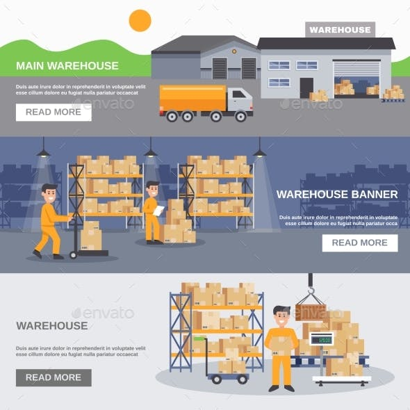 Warehouse Inside And Outside Horizontal Banners
