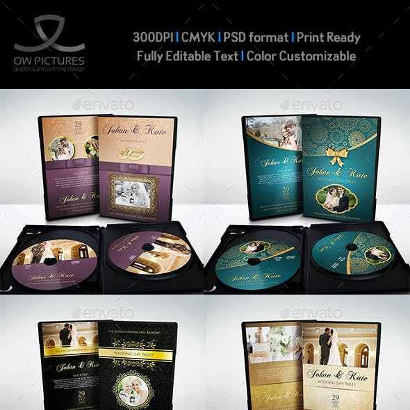 Wedding DVD Cover and Label Template Bundle Vol.1