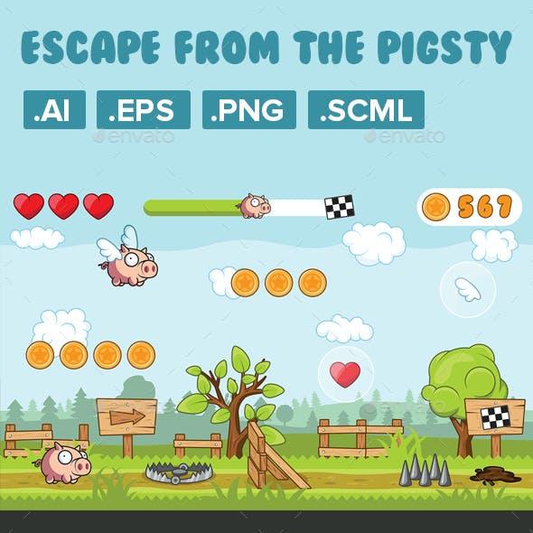 Game Asset, 2D Character Pig Runner