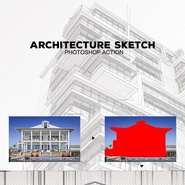 Architecture Sketch - Photoshop Action #52