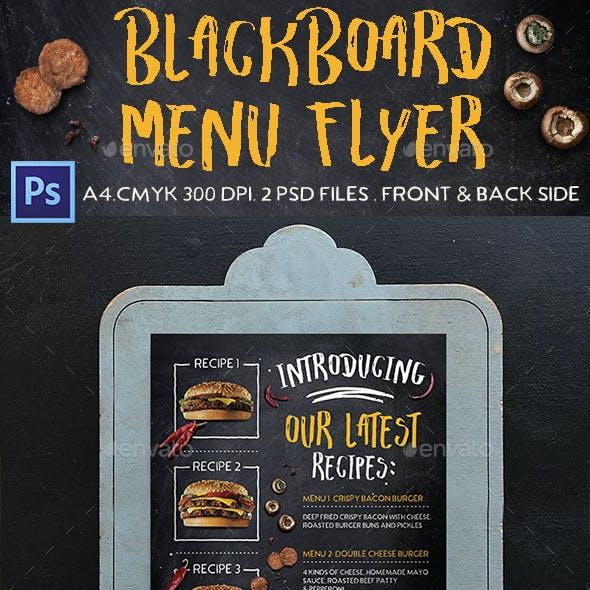 Blackboard Menu Flyer