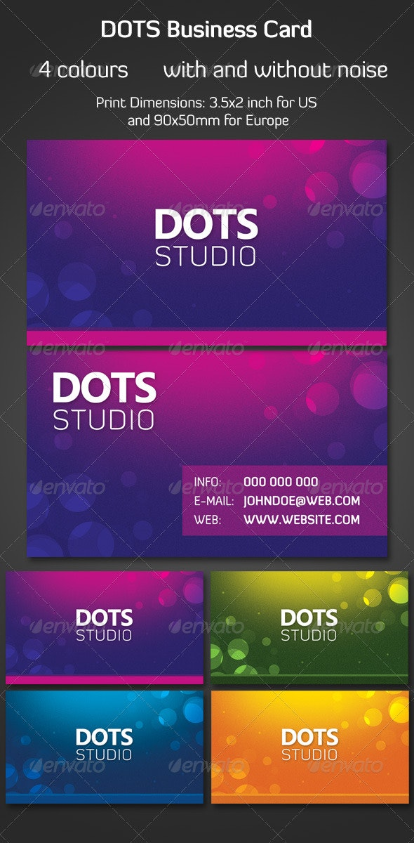 Dots Business Card - Creative Business Cards