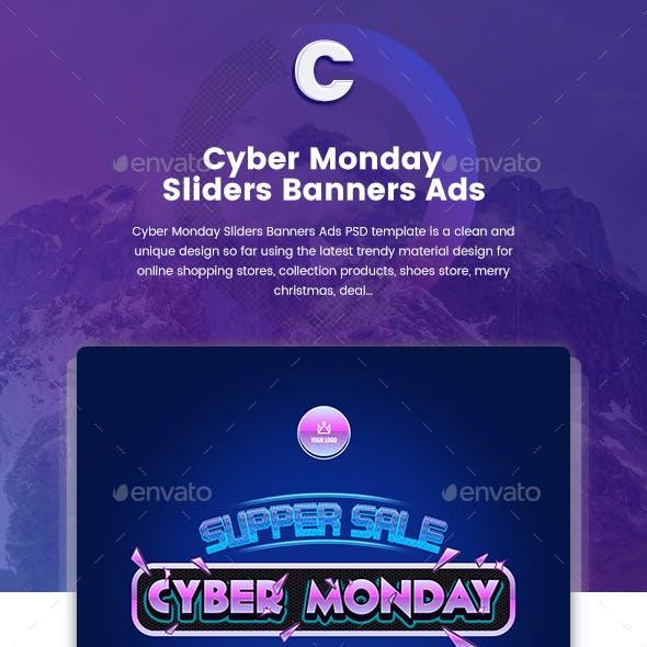 Cyber Monday Sliders - 10 PSD