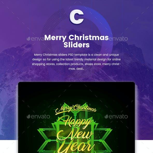 Merry Christmas Sliders - 09 PSD