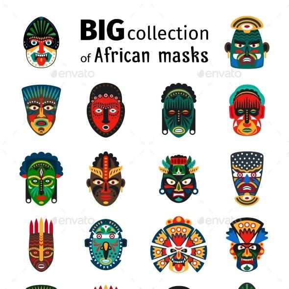 Tribal African Masks Set