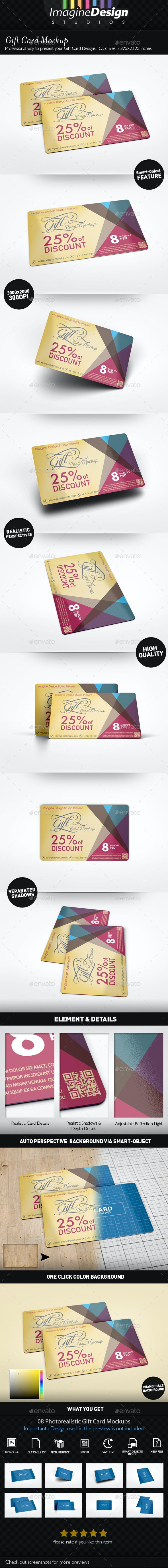 Gift Card Mockup - Miscellaneous Print