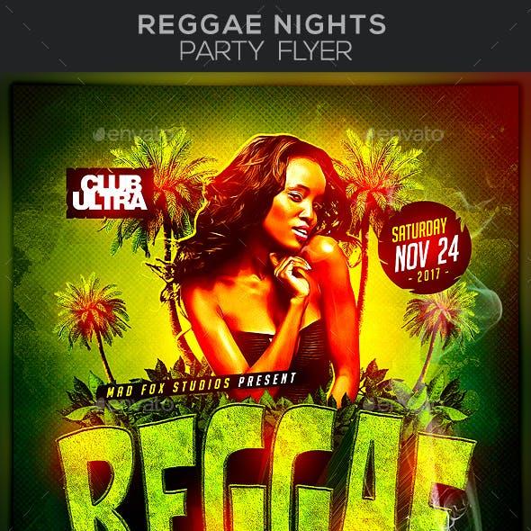 Reggae Nights Party Flyer