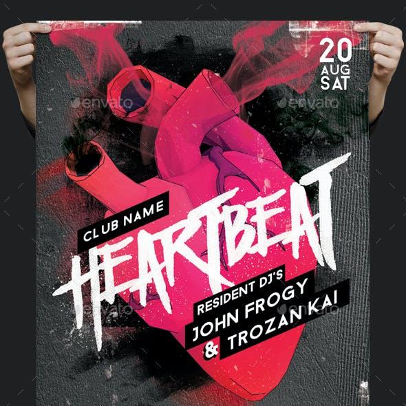 Heartbeat Guest Dj Flyer