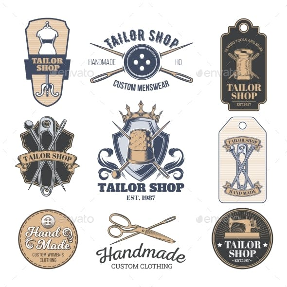 Set of Vector Tailor Emblems