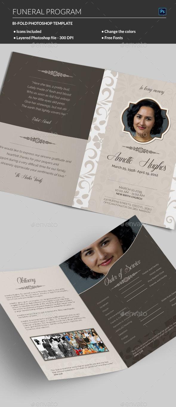 Funeral Program - Informational Brochures
