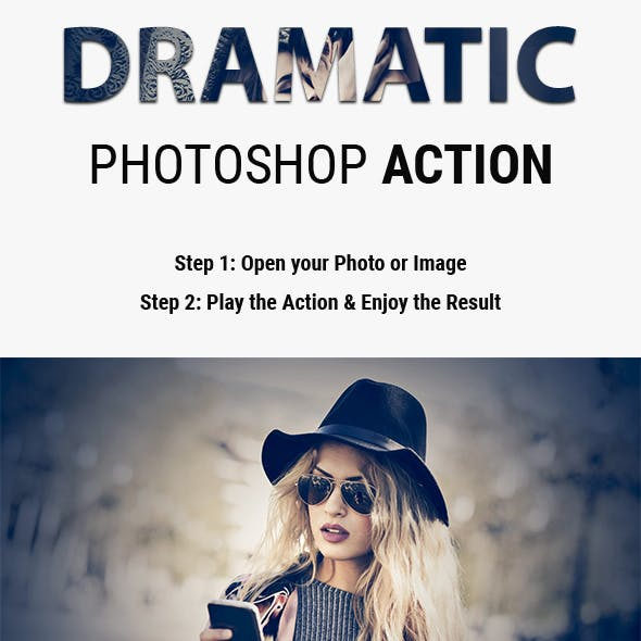 Dramatic | Blue Lighting Effect Photoshop Actions