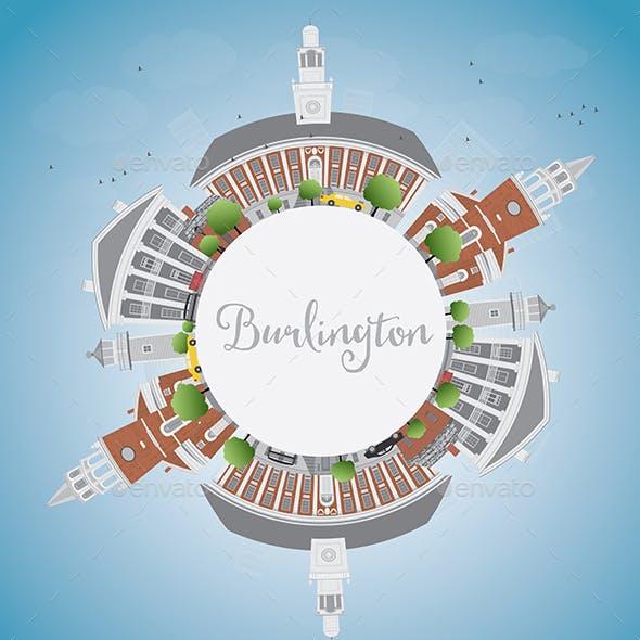 Burlington (Vermont) City Skyline