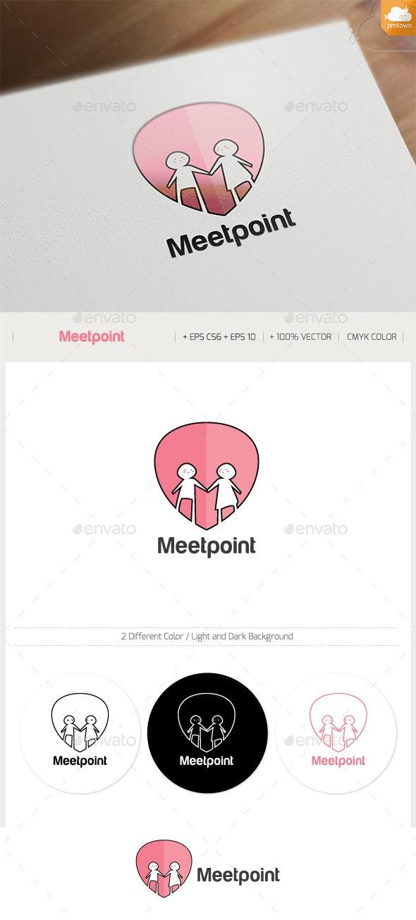 Meet Point Logo - Humans Logo Templates