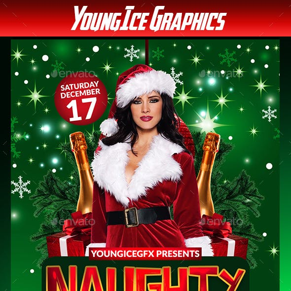 Naughty Xmas Party Flyer Template