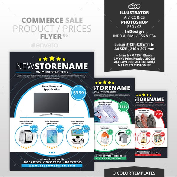 Commerce Sale Product Prices Flyer 06