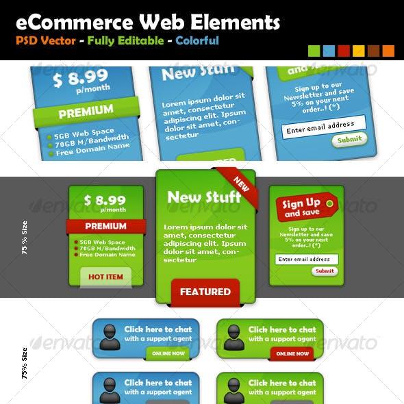 eCommerce Web Elements