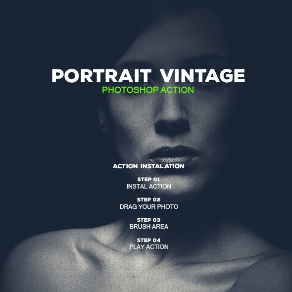 Portrait Vintage - Photoshop Action #55
