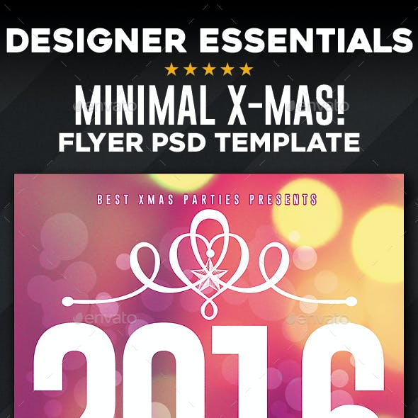 Minimal Christmas 2016 Flyer
