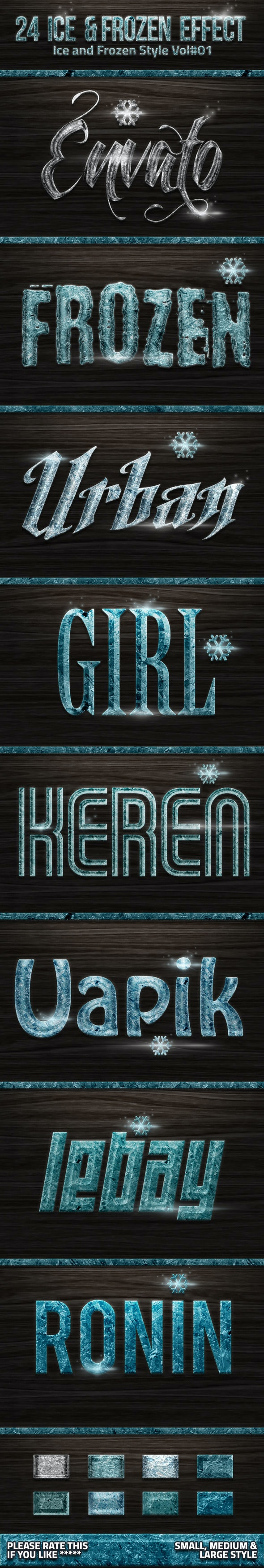 24 Frozen and Ice Styles V01 - Text Effects Styles
