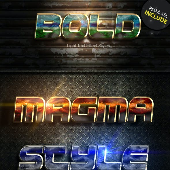 Bold Light Text Effect Vol 1