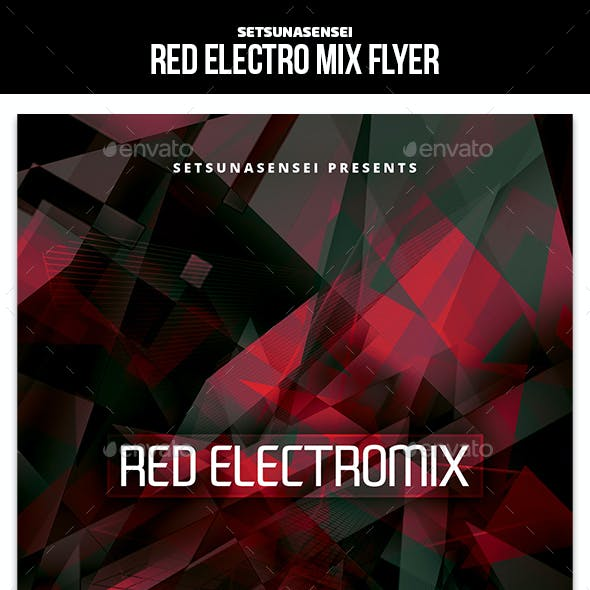 Red Electro Mix Flyer