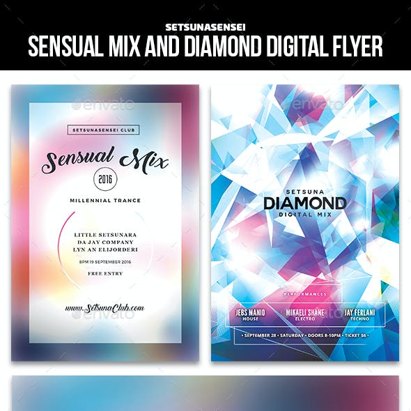 Sensual Mix and Diamond Digital Flyer