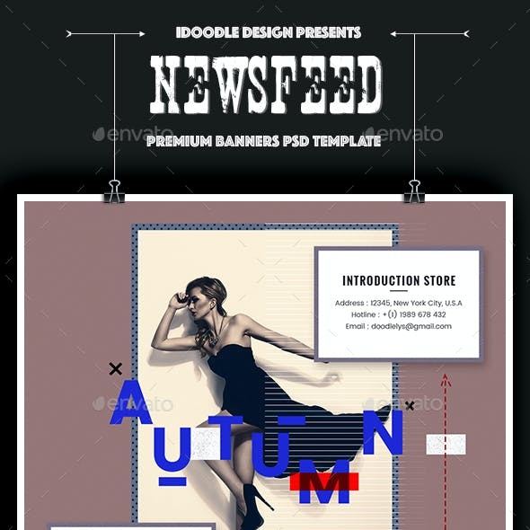 Visual Challenge NewsFeed Facebook Ad - 20 PSD [02 Size Each]