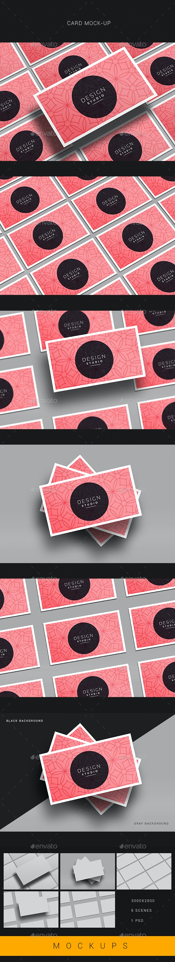 5 Realistic Business Card Mockups - Business Cards Print