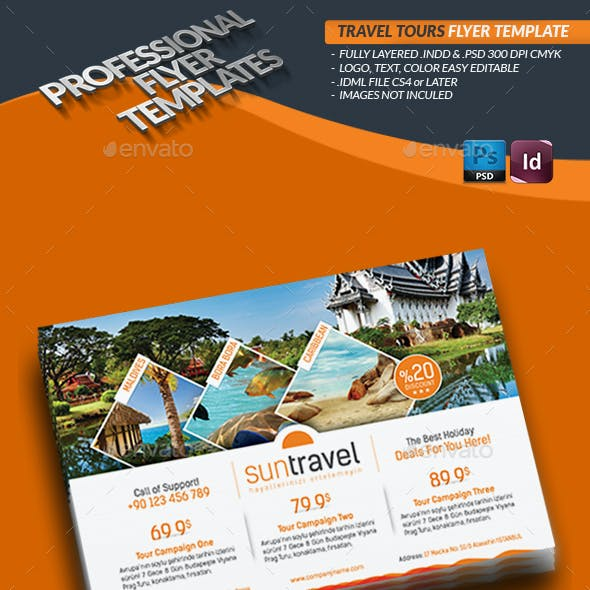Travel Tours Flyer Templates