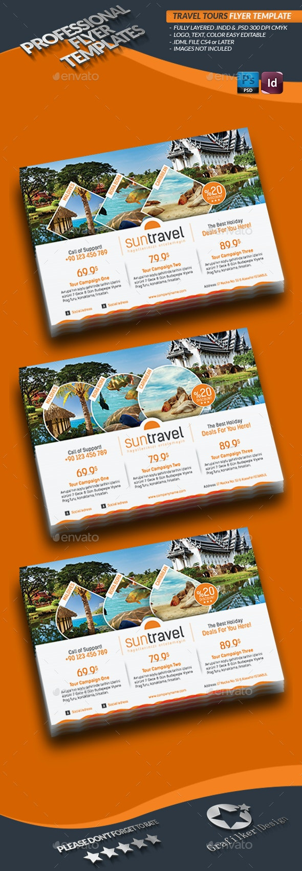 Travel Tours Flyer Templates - Corporate Flyers