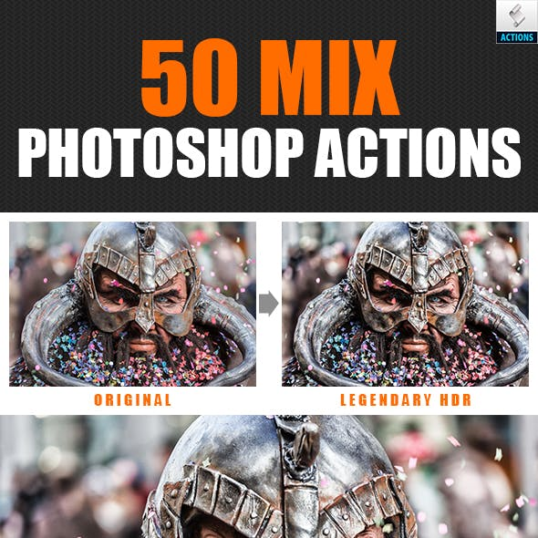 50 Mix Photoshop Actions