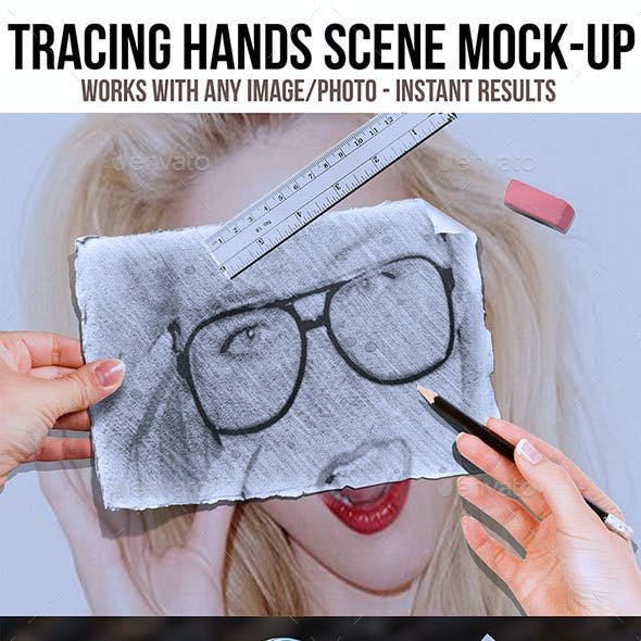 Tracing Hands Scene MockUp