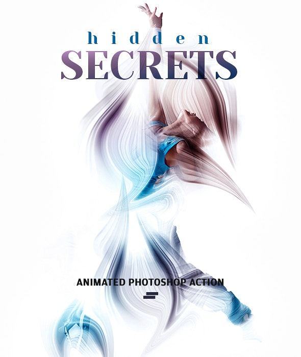 Gif Animated Hidden Secret Photoshop Action - Photo Effects Actions