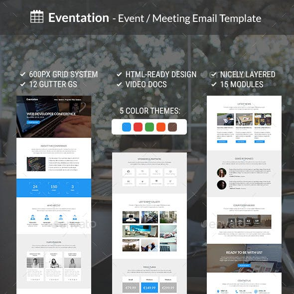 Eventation - Event / Meeting Email Template