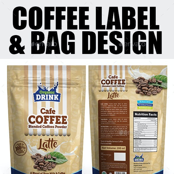 Coffee Label & Bag Templates