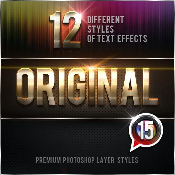 12 Original Photoshop Text Effects Vol.15